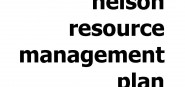 The cover page and title of Nelson Resource Manage
